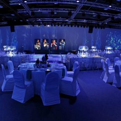 Corporate event Blue X-mas